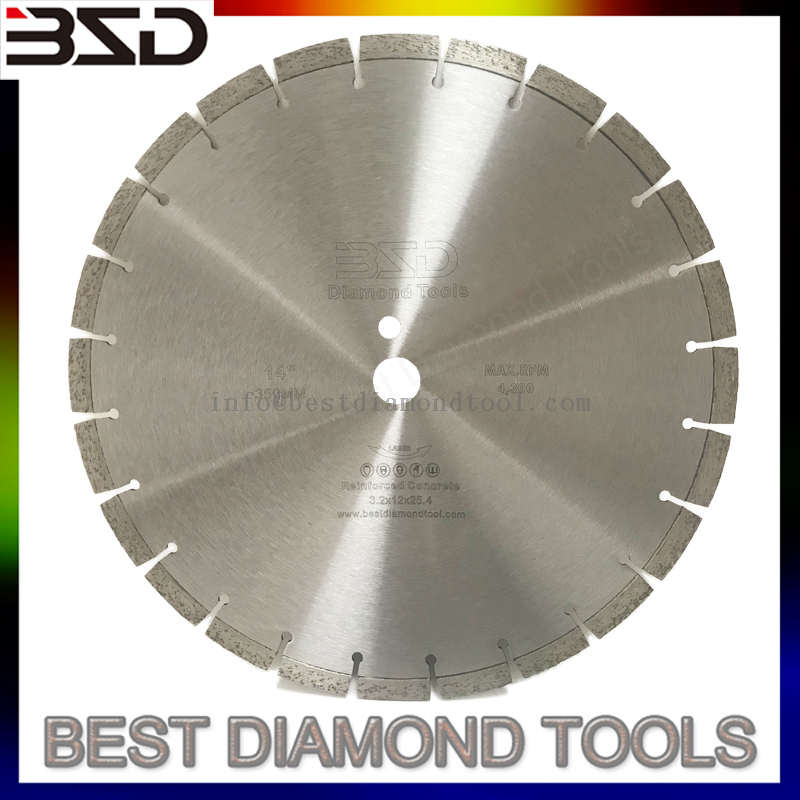 Soft Cut Green Concrete Cutting Diamond Saw Blade Disc 14inch 16 Inch