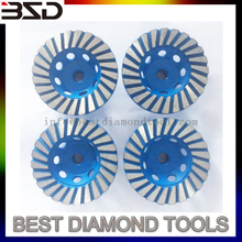 Steel Base 100mm Turbo Segments Diamond CupWheels for Marble With Grit 100#