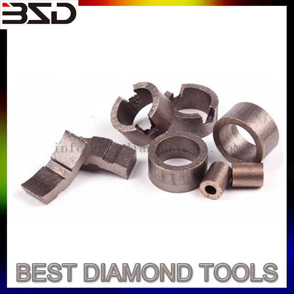 Diamond Core Drill Bit Segment for Reinforced Concrete Drilling