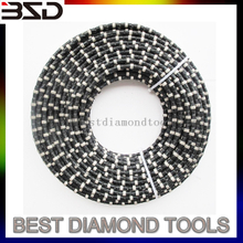 Diamond Rubber Coated Sintered Beads Portable Wire Saw for Steel, Natual Stone Concrete Cutting