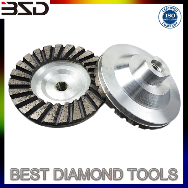 "4"" Aluminium Diamond Cup Grinding Wheel for Concrete Granite Marble"